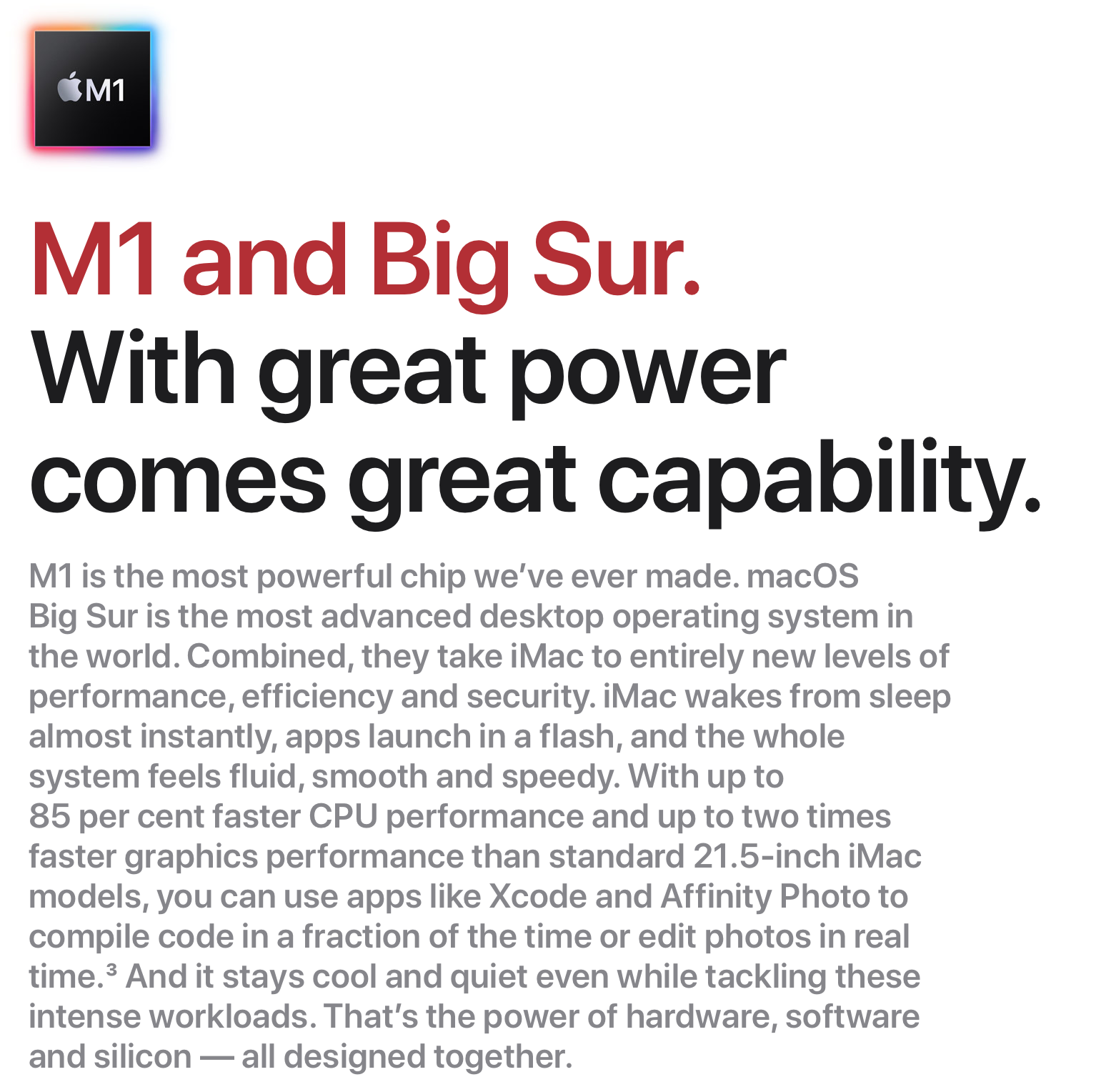 Apple M1 Chip Description